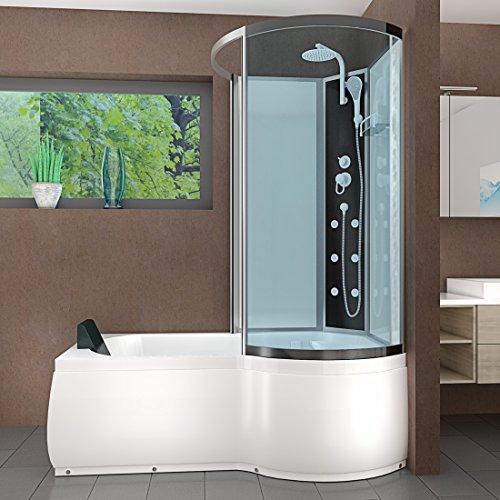 AcquaVapore DTP8050-A000L Wanne Duschtempel Badewanne Dusche Duschkabine 170×98