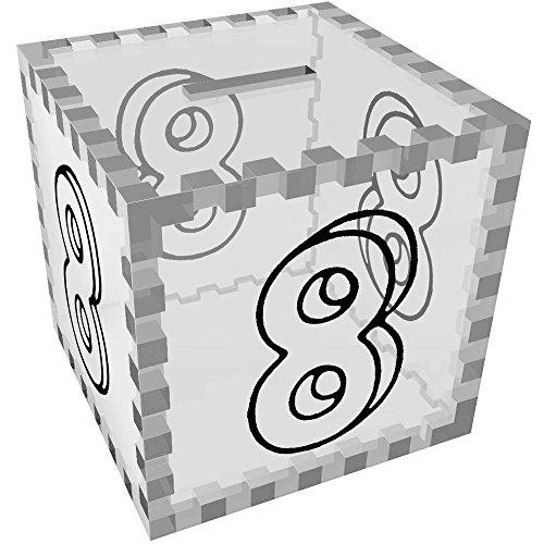 Azeeda 'Nummer 8' Klar Sparbüchse / Spardose (MB00059637) -