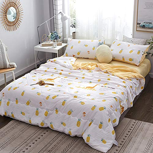 QMWNEBRV Fluffy Summer Cool Quilt, Sommer Microfaser Quilt Soft Touch for Kühleren Sommer Tiefschlaf, Maschinenwaschbar, Single Double Size weiche (Color : S, Size : 1.8 * 2.0m) - Retro-chic Quilt