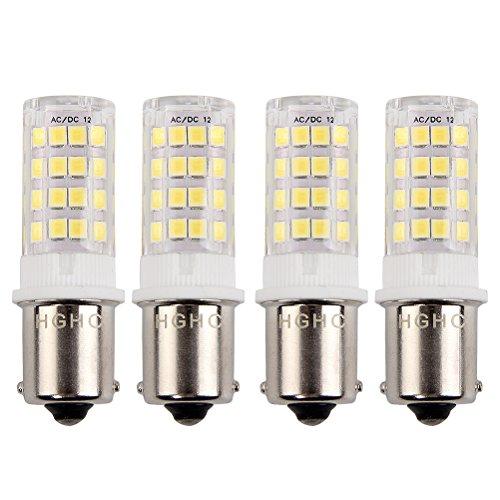 5 watt BA15S 1156 1141 LED Singolo contatto SBC baionetta Sidelight girare indicatore luminoso AC/DC 12V Cool bianco 6000K, per lampadina faro per auto e camper RV, Luce paesaggio(4-Pack)