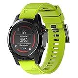 Uhrenarmbänder, KanLin1986 Correa de silicona de silicona de repuesto para Garmin Fenix 5 GPS Watch (Verde)