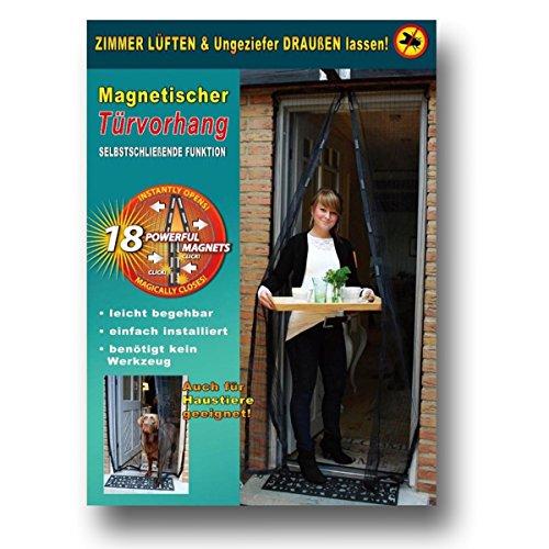 Magnetischer Türvorhang 100x210cm schwarz Fliegenvorhang mit Magneten Moskitonetz Fliegengitter Mücken Insektenschutz Türvorhang