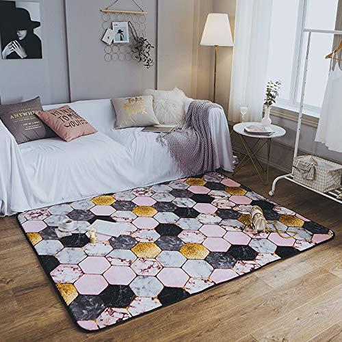 XTUK Home Decoration CarpetFashion Carpet Bodenmatte Wohnzimmer Schlafzimmer Teppiche Parlor Area Rug Rutschfester Teppich abriebfester Teppich Esszimmer Hause Schlafzimmer Teppich Boden Matte