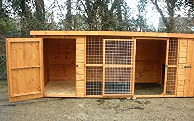 UK Kennels Wilton 12FT X 4FT Double Dog Kennel And Run from UK Kennels