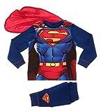 Kinder Jungen Kostüm geschnürt Superman superanzug 5-6 Jahre - Blau, 116