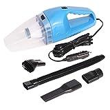Aspiradora Coche 150W, Aspiradora Coche Potente 12V, Portátil Aspiradores, Soporta Mojado Seco con 5m Cable, Filtro HEPA Multicapa, Lavable y Reutilizable