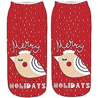 Zolimx Weihnachtensocken Unisex Christmas Funny 3D Fashion Casual Socken gedruckt Niedliche Low Cut Söckchen