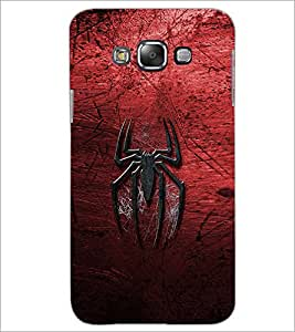 PrintDhaba Spider D-2323 Back Case Cover for SAMSUNG GALAXY E7 (Multi-Coloured)