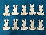 Lot de 10Lapins de Pâques en bois–Prêt à peindre et Décorer, 9cm