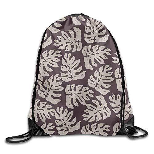 XLABDZ Palm Leaf Drawstring Backpack Rucksack Shoulder Bags Training Gym Sack for Man and Women
