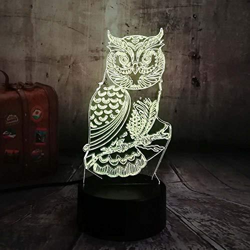 Neuheit 3D Eule LED Nachtlicht 7 Farbwechsel Schreibtisch Tischlampe Home Schlafzimmer Dekor Kind Kinder Baby Schlafen Xmas Festival Geschenke