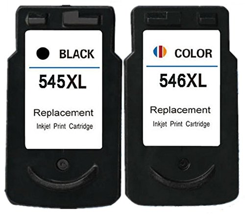 2 XL Compatibili PG-545XL CL-546XL Cartucce d'inchiostro per Pixma MG2400 MG2450 MG2455 MG2550 MG2550S MG2555 MG2555S iP2850 MG2950 MG3050 MG3051 MG3052 MX490 MX495 TS3151 - Nero/Colore, Alta Capacità