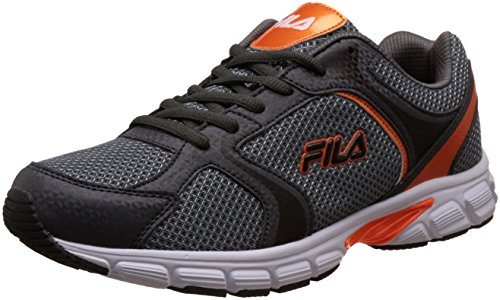 Fila Men's Ad Lite Dark Grey and Orange Running Shoes -9 UK/India (43 EU)
