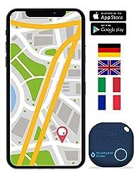 musegear® Schlüsselfinder mit Bluetooth App aus Deutschland I Maximaler Datenschutz | dunkelblau 1er Pack I GPS Ortung/Kopplung I Schlüssel Finden
