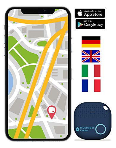 musegear localizzatore Chiavi Bluetooth -Volume 3 Volte più Potente -Colore Blu - Key Finder - Portafoglio Telefono