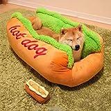 EDTara Baumwolle Hot Dog Form Pet Nest Bett Hundehütte Katze Hund Puppy House Warm Matte Kissen waschbar Pad