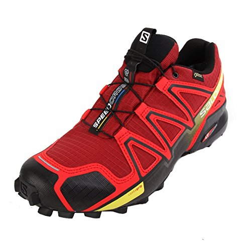 Salomon Speedcross 4 Gtx, Scarpe da Trail Running Uomo, Rosso (Brique-X/Radiant Red/Black), 42 EU