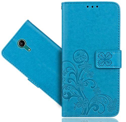 FoneExpert® Wiko Tommy 2 Handy Tasche, Wallet Case Cover Flower Hüllen Etui Hülle Ledertasche Lederhülle Schutzhülle Für Wiko Tommy 2