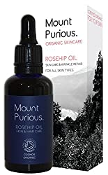 Mount Purious. Organic Skincare 100% Certified Organic Rosehip Oil For Facial Skincare - Cold Pressed/Vegan (50ml)