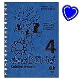 Le Ding 4 Carnet de chansons culte – Songbook pour chant, guitare – plus de 400 chansons connues de toutes les musiques – avec pince de notes colorée en forme de cœur...