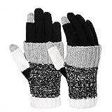 Vbiger Winter Handschuhe Warme Handschuhe Baumwolle Damen Handschuhe Strick Handschuhe Winterhandschuhe für Damen