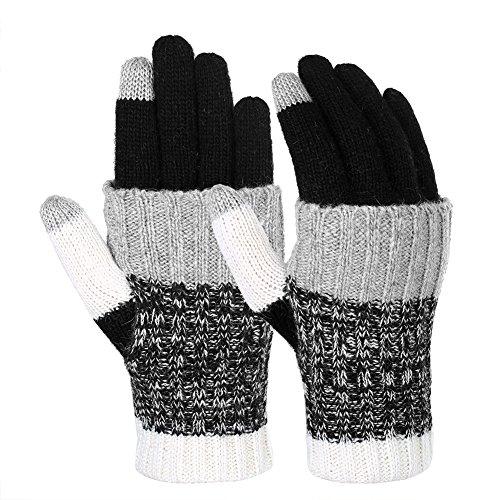 Warme Winter-handschuhe (Vbiger Winter Handschuhe Warme Handschuhe Baumwolle Damen Handschuhe Strick Handschuhe Winterhandschuhe für Damen)