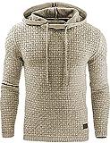 Junshan herren kaputzenpullover oversize hoodies männer sweatshirt Herbst Winter kaputzenpulli 36-48 (Aprikosen Farbe, S)