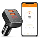 Anker Roav SmartCharge Car Kit F2, Wireless In-Car FM Transmitter Radio Adapter, Bluetooth 4.2 Receiver, Car Locator, App Support, Dual-USB Car Charger With Power IQ, AUX Output, USB Drive MP3 Player