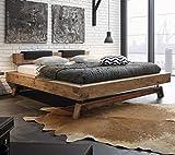 Hasena Oak Wild Vintage Balkenbett Kopfteil Inca Kufen Stabil 140x200