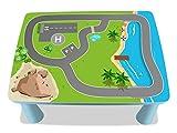 Küstenstadt Möbelfolie / Aufkleber - MME02 - passgenau für den MAMMUT Tisch (eckig) von IKEA - Mit wenigen Handgriffen zum einzigartigen Spieltisch für Kinder! (Möbel nicht inklusive!!!)