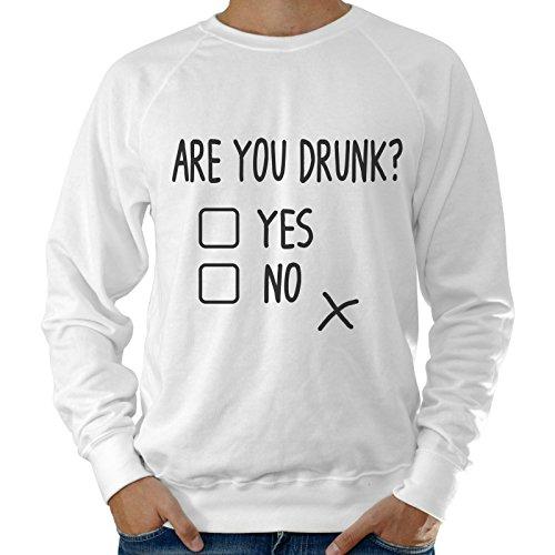 Felpa Leggera Uomo Simpatica Are You Drunk?