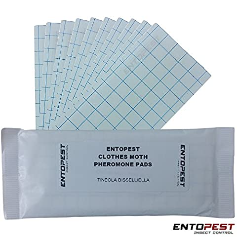 Pack of 10 Entopest Clothes Moth Pheromone Replacement Refill Pads