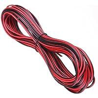 50Metri Cavo di prolunga 2Core Nero Rosso 12V 12Volt Amp Auto Van barca striscia LED Audio Speaker Wire by