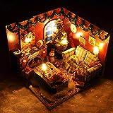 Kreative Geschenk Kabine Modell Spielzeug Weihnachten Geburtstagsgeschenk DIY Möbel Wohnzimmer und Kunst Abdeckung (mit LED-Licht + Batterie Box Schalter + Staubschutz)