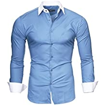 "Kayhan Hombre Camisa Slim Fit Modello ""Milano"""