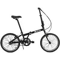 FabricBike Folding Pieghevole con Telaio in Lega, Bicicletta Single Speed, 3 Colori (Fully Matte Black)