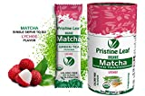 Pristine Leaf | Organic Matcha Green Tea Powder | Lychee Flavored | 12 Single Serving Packs of 2.5g | Pure Natural | No Sugar | No Fillers | Calorie Free | Vegan | Gluten Free | USDA Organic