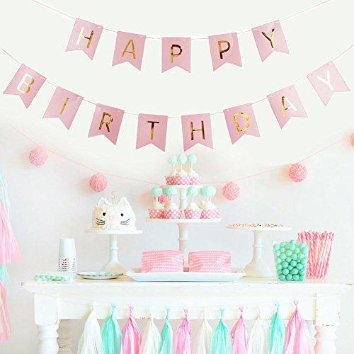 Happy Birthday Deko Set In Rosa Partydeko Fur Verschiedene Anlasse