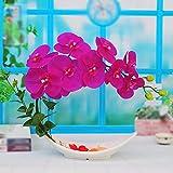 LVLIDAN künstliche Blume Kunstblumen Fake Phalaenopsis Sets Dekoration PU Topf Violett