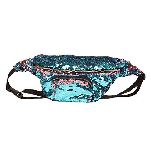 VJGOAL Damen Bauchtasche, Unisex Frauen Mädchen Outdoor Sports Party Reise Doppel Farbe Pailletten Tasche Casual Hüfttasche ()