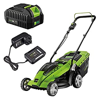 Aerotek Cordless 40V Series X1 Lawnmower Lithium-Ion Battery & Charger Included Cutting Width 370mm & 40 Litre Grass Collection Box