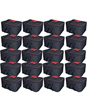 Storite Nylon Big Underbed Storage Bag Moisture Proof Cloth Organiser with Zippered Closure and Handle