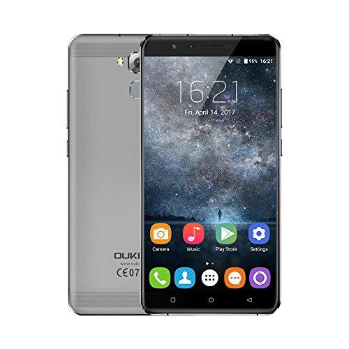 OUKITEL U16 Max 4G Smartphone Pantalla 6.0 pulgadas, Android 7.0 MTK6753 64-bit Octa Core 1.3GHz, 3GB RAM+32GB ROM 5MP+13MP Cámara, Batería 4000mAh Huella Digital