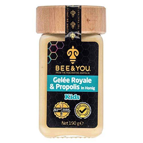 Bee&You Gelée Royal & Propolis in Honig für Kinder (Roher Honig, Fairer Handel, Natürliche & kontrollierte Zutaten)