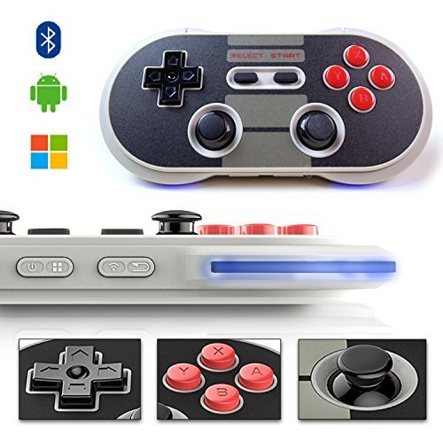 YIKESHU 8Bitdo Wireless Bluetooth Controller Classic Nintendo Gamepad Joystick for Mac OS, Android and Windows Devices