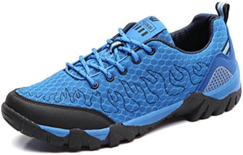 KANGLE Zapatillas de Senderismo para Hombre, de Malla Transpirable, para Deportes al Aire Libre, 42