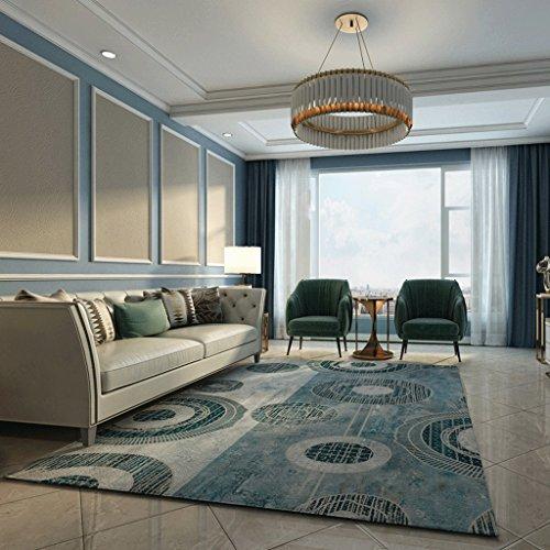 ZJK Teppich Geometrischer Abstrakter Teppich-Wohnzimmer-Couchtisch-Sofa-Schlafzimmer-Bett Anti-Rutsch-Teppich-Multi Größe A+ (Color : E, Size : 200x300cm(79x118inch)) -