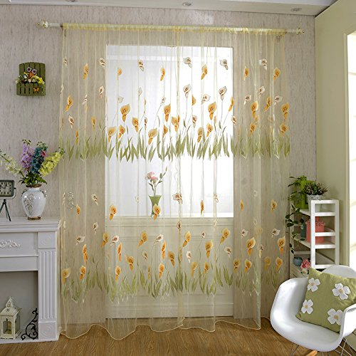 befaith-new-rod-pocket-top-calla-lily-pattern-tulle-door-window-divider-voile-curtain-yellow