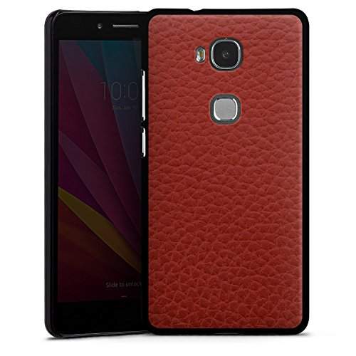 DeinDesign Huawei Honor 5X Hülle Case Handyhülle Leder Look Rot Red 5 X Hard Case