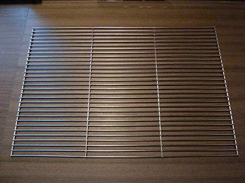 CHM - Parrilla Cuadrada de Acero Inoxidable para Barbacoa en 2 tamaños 60 x 40 cm 58 x 30 cm